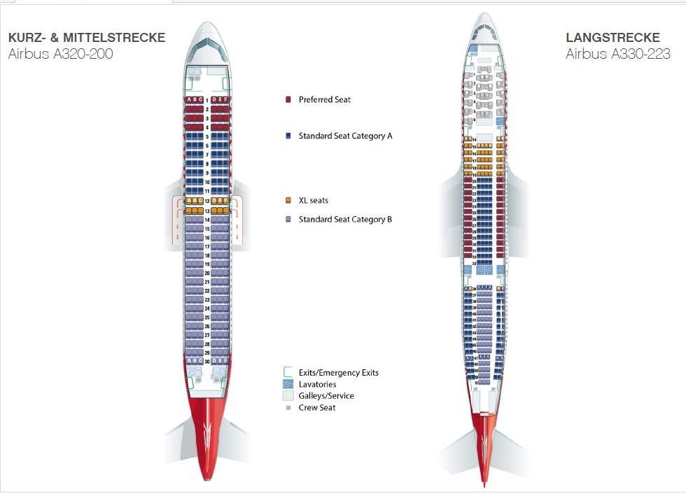 AirBerlin Sitzplatzkonzept